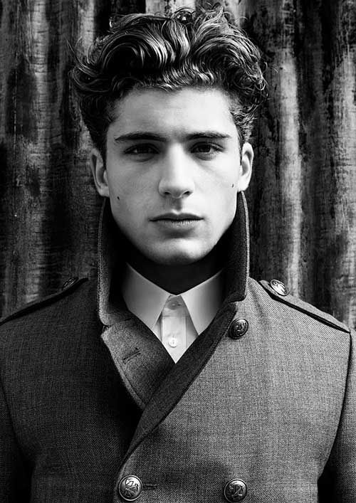 Mens Wavy Hairstyles long hairstyle with natural waves for men Hairstyles For Men With Thick Wavy Hair More