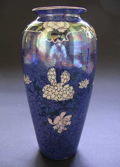 Rare Wilkinson Ltd Kioto Pattern Shape 120 Art Deco Lustre Ware Vase