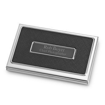 Black textured card case at things remembered gift ideas black textured card case at things remembered business reheart Images