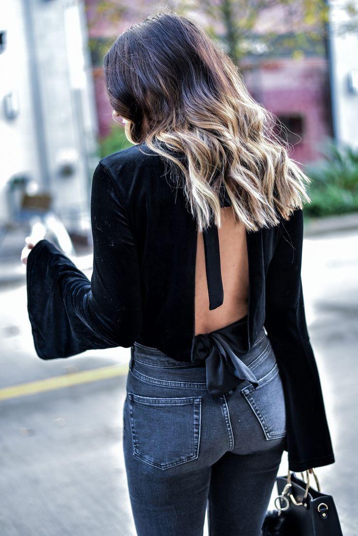 Houston style blogger Tiffany Jais wearing a bell sleeve ...