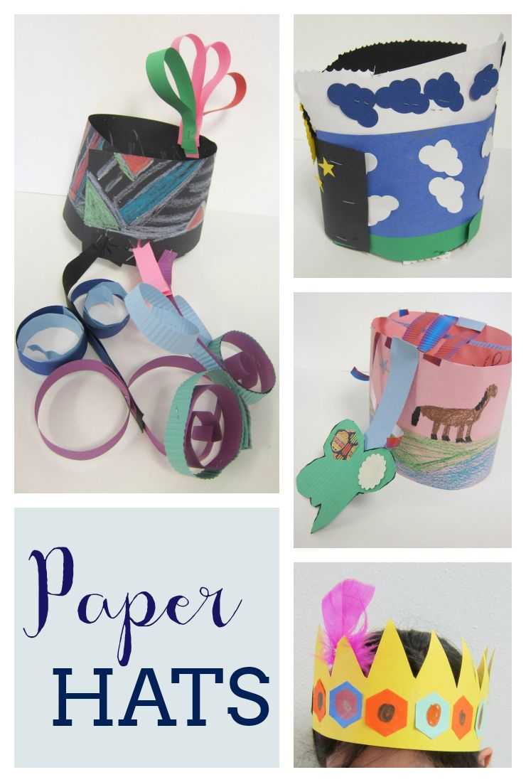 Paper Hats with 2nd Graders in 2020 | Paper hat, Name ...