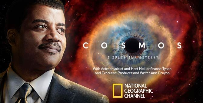 Clear explanations of science are precisely what creationists most fear  from Neil deGrasse Tyson's series.   Cosmos, National geographic channel,  Drama tv series