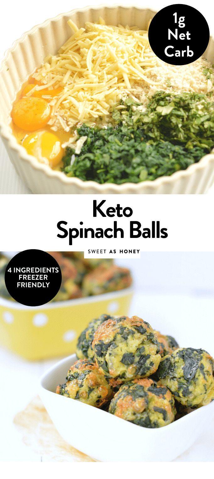 Spinach balls – Keto Appetizer 1 g net carb – Sweetashoney