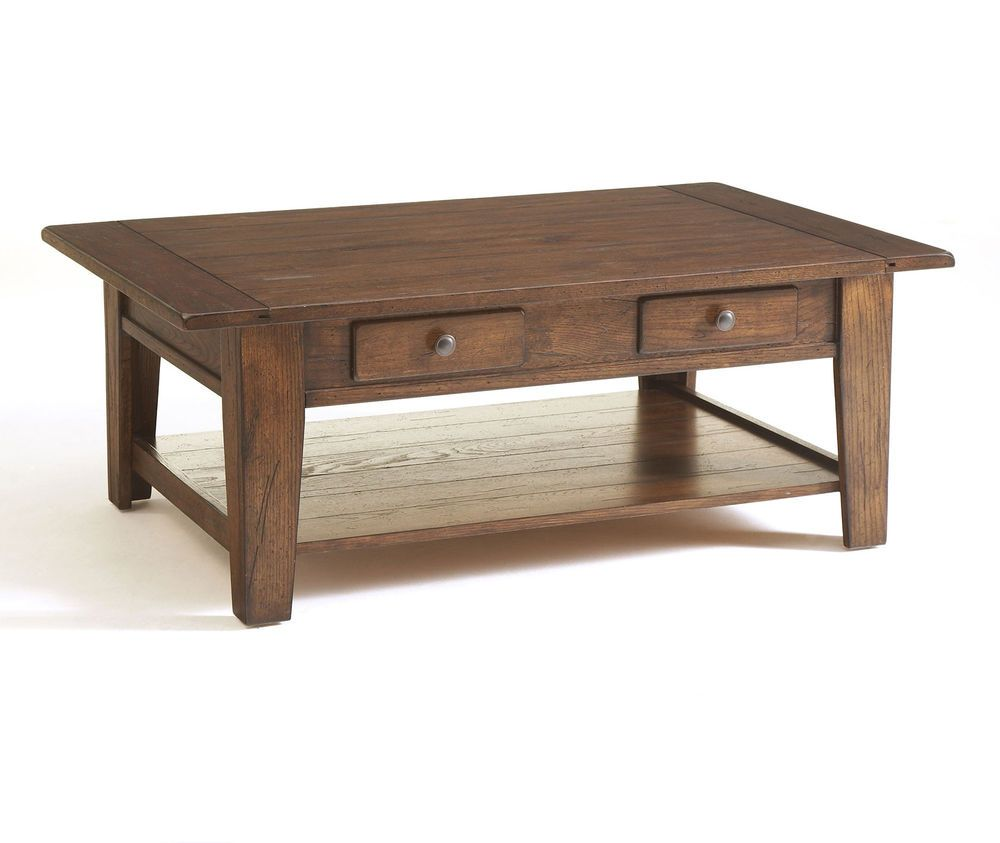 Broyhill Attic Heirlooms Rustic Oak Rectangular Cocktail Table 3399 01v Coffee Table Broyhill Furniture Coffee Table With Drawers