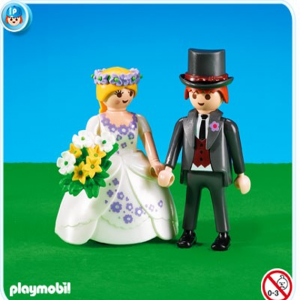 Novios para la tarta de playmobil