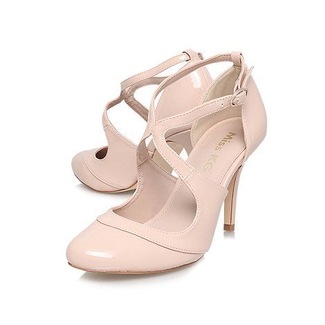 Natural 'Natalie' High heeled courts cheap popular buy authentic online amazon sale online DL7SA