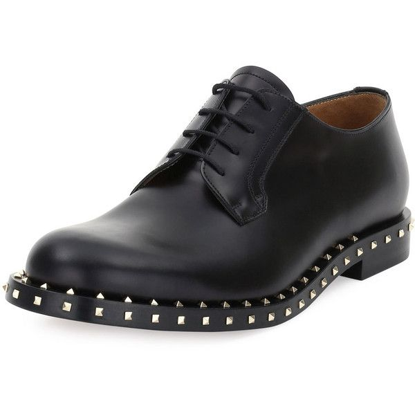 Valentino Rockstud Studded Lace Up Derby Shoe 1 395 Liked On