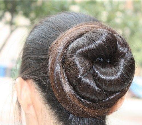 pin on big bun hair