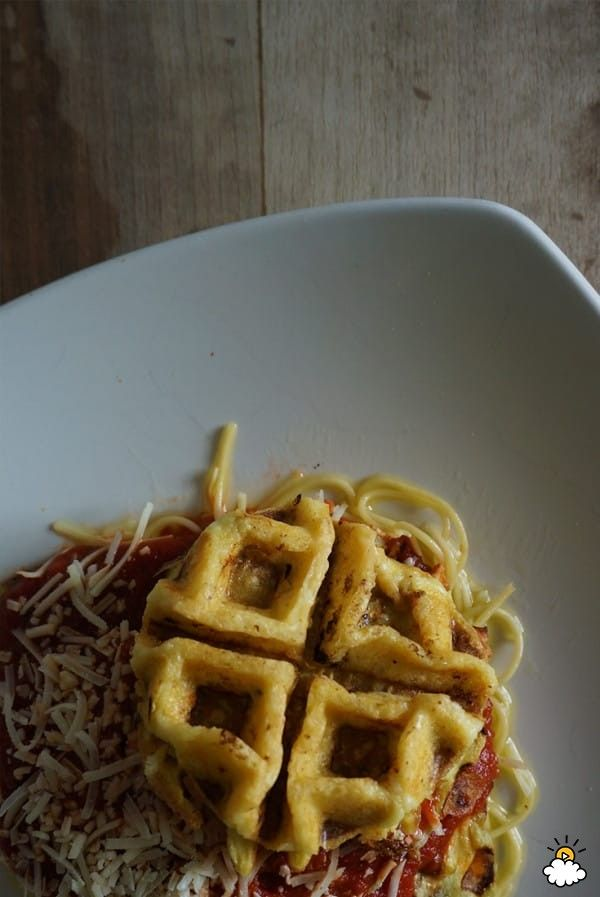 Waffle maker eggplant parmesan