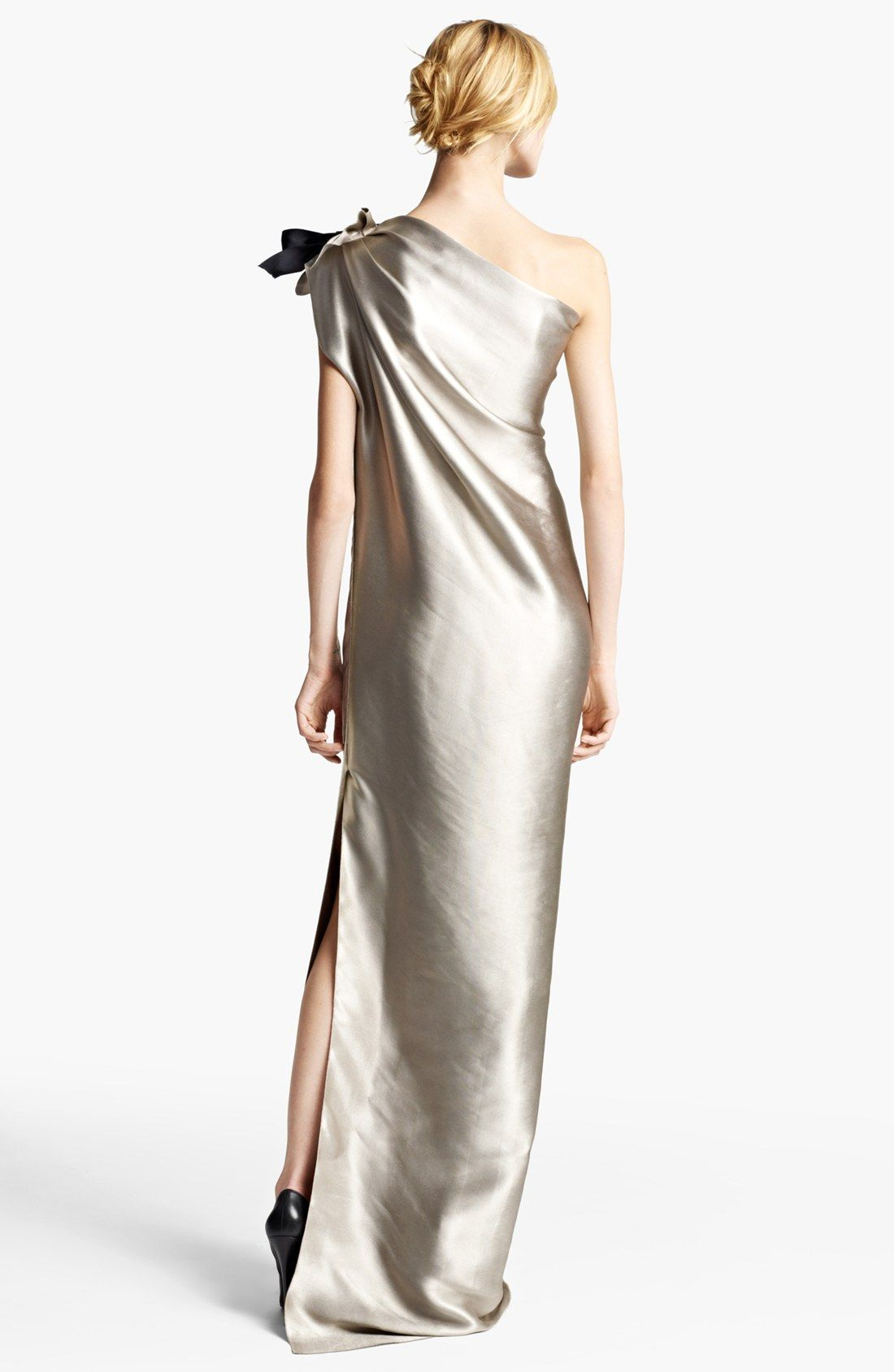 Lanvin Washed Duchesse Satin One Shoulder Gown | Nordstrom ...