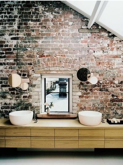 dream bathroom = garden tub and pebble indoor shower with herb garden