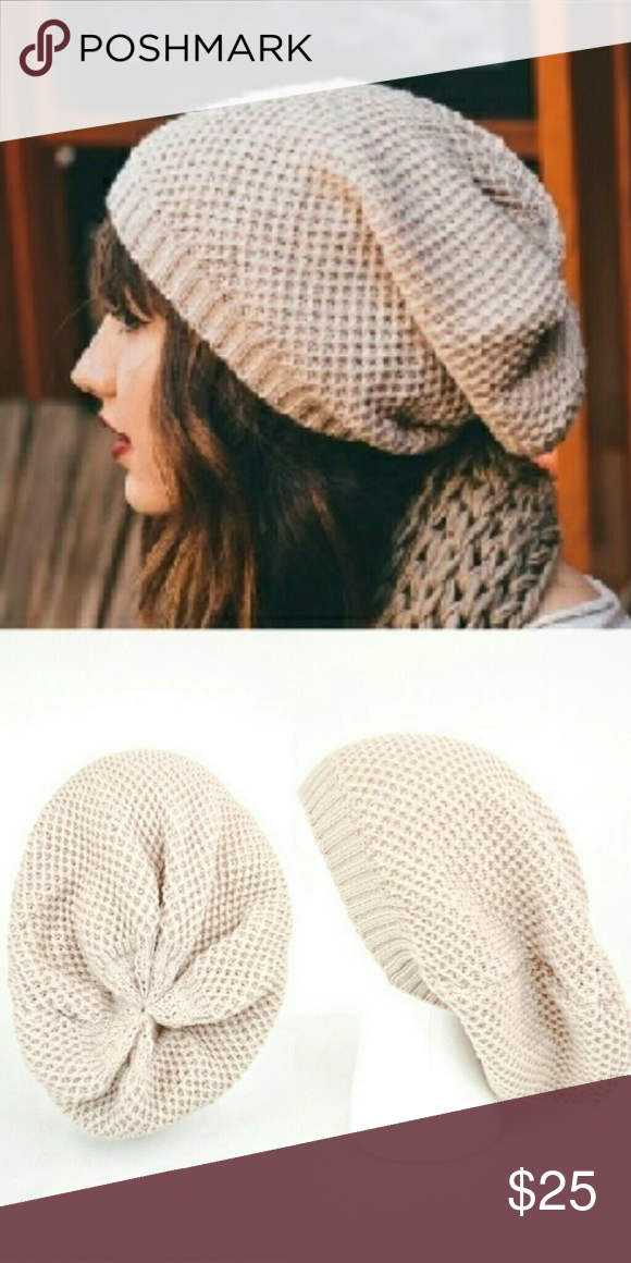 6f8a40f97ec Oatmeal Waffle Knit Beanie Adorable beanie that goes with so much! 100%  acrylic! Please like and I will let you know when I get these! Accessories  Hats