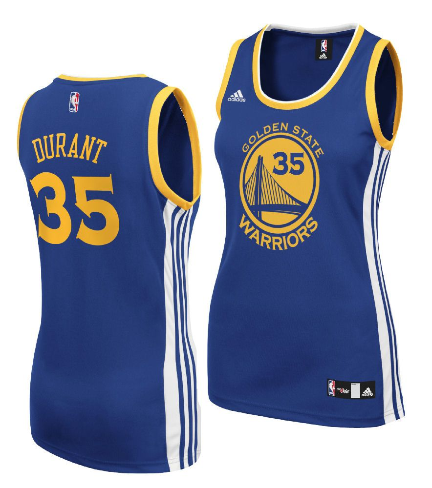 on sale 4294d 98687 Ladies Kevin Durant Golden State Warriors Basketball Jersey ...
