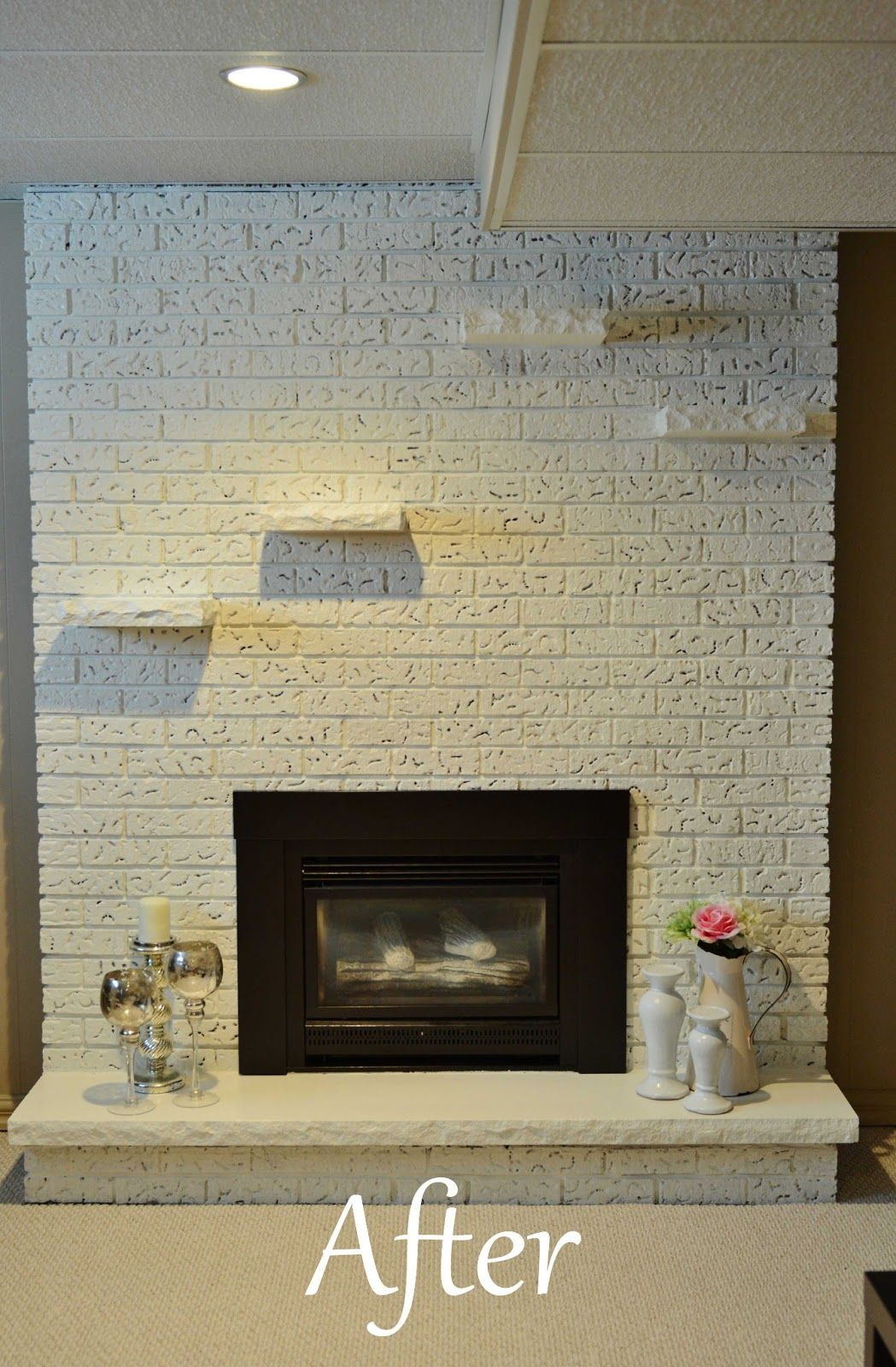 Cheap Fireplace Makeover Like The Rough Edge On Hearth Diy Fireplace Stone Fireplace Makeover Diy Fireplace Makeover