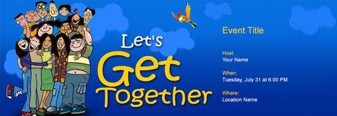 Online Get Together Invitation  Get Together Invitation Template