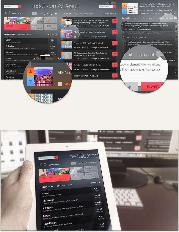 Reddit App Design by Isaac Paavola App design, Design