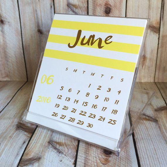 Desk Calendar With Cd Case Stand Modern Colorful Desktop