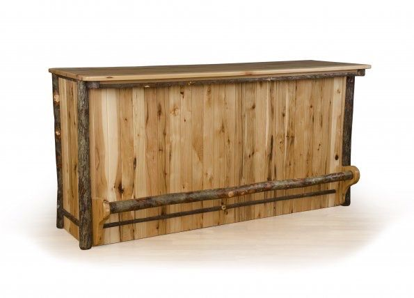 Our Hickory Bar is a conversation starter & standout piece  #BarFurniture #AmishMade #Amish http://www.amishcraftedfurniture.net/product/hickory-bar/