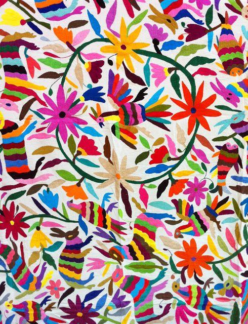 Bordado Tenango / México | Lu | Pinterest | Kunsthandwerk, Mexiko ...