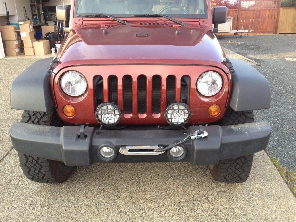 My Hidden Winch In Stock Bumper Jkowners Com Jeep Wrangler Jk