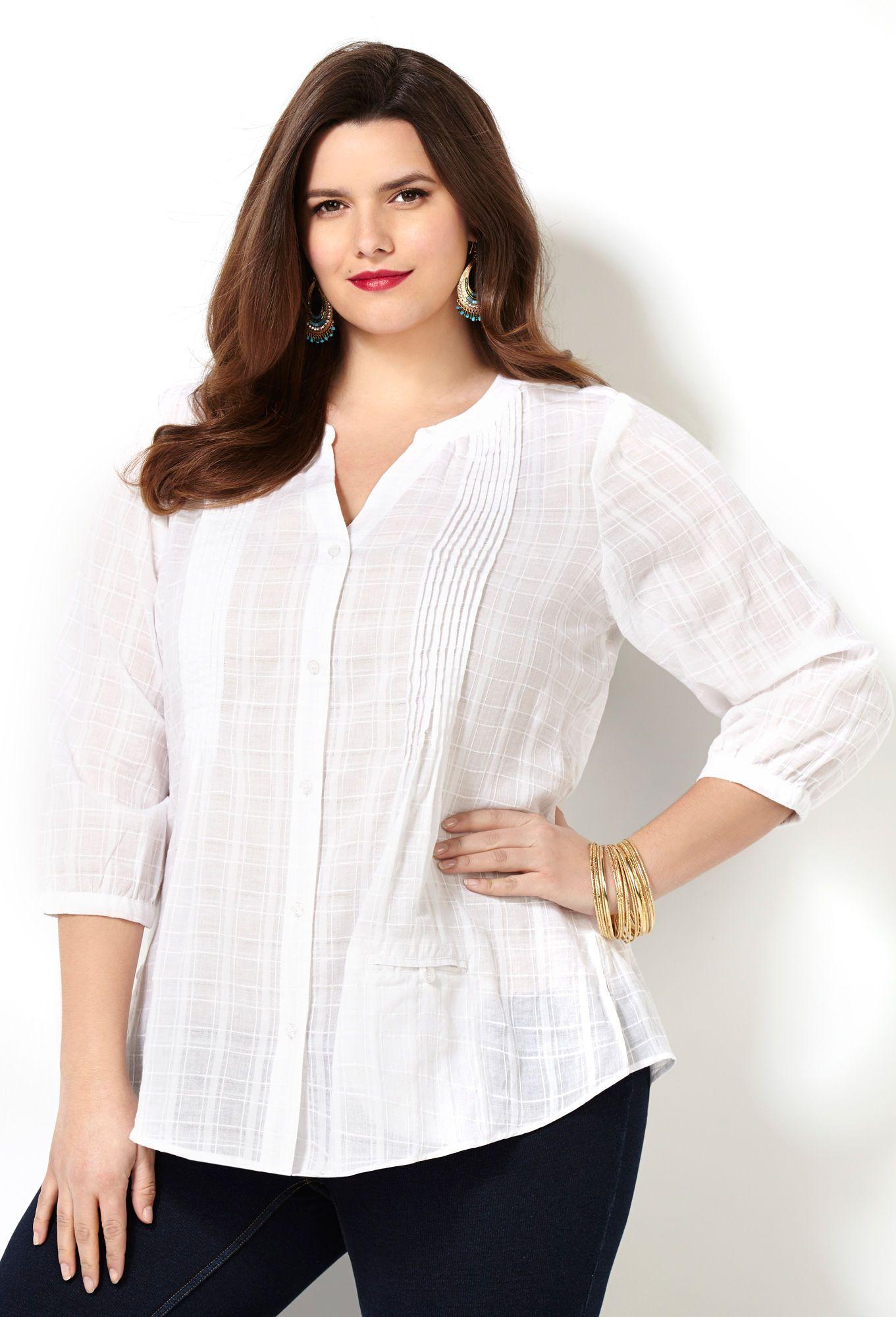 Shop Plus Size Shirts and Blouses| Avenue.com