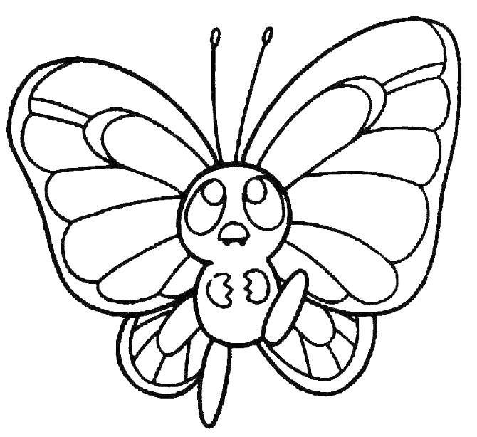 Kelebek Boyama Resimleri3 εποχη ανοιξη Pokemon Coloring Pages