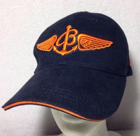 Breitling Watch Rare Promo Hat Strap Back Since 1884 Blue Orange Breitling Baseballcap Hats Blue Orange Watch Cap