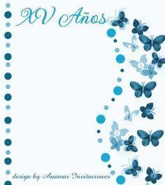 fondos para invitaciones de 15 años con mariposas rojas