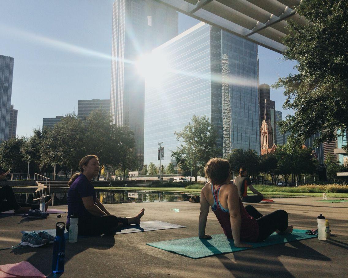 Yoga in downtown Dallas