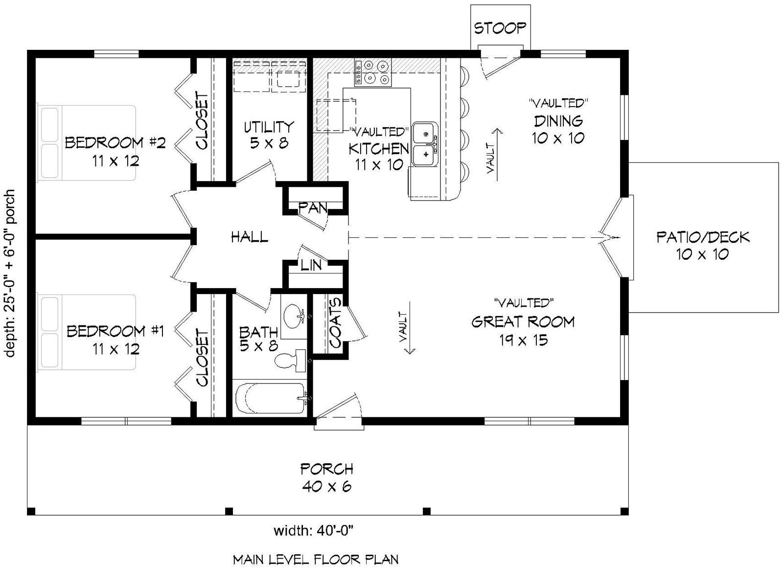House Plan 940 00129 Country Plan 1 000 Square Feet 2 Bedrooms 1 Bathroom Country Style House Plans Floor Plans Ranch Pole Barn House Plans