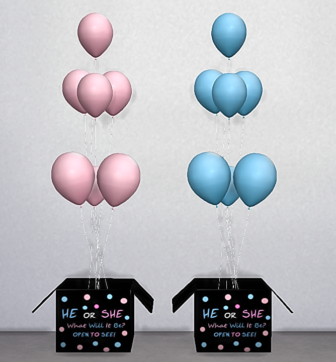 Ts3 Ts4 Gender Reveal Box Located In Clutter Miscellaneous Decor Plants 35 Simeoleons 9k Polys 2 Recolors Mesh Sims Baby Sims 4 Sims 4 Toddler