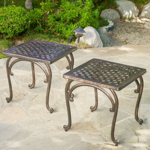 Found It At Wayfair Potenza Cast Aluminum Outdoor Side Table