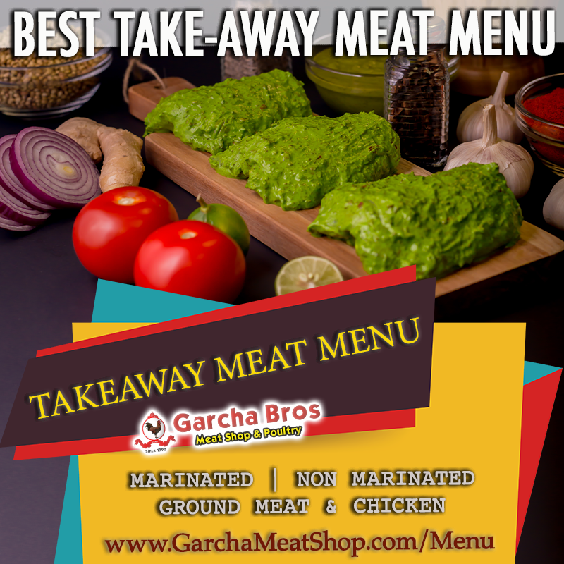 Best Takeaway Garcha Meat Shop Menu Marinated Non