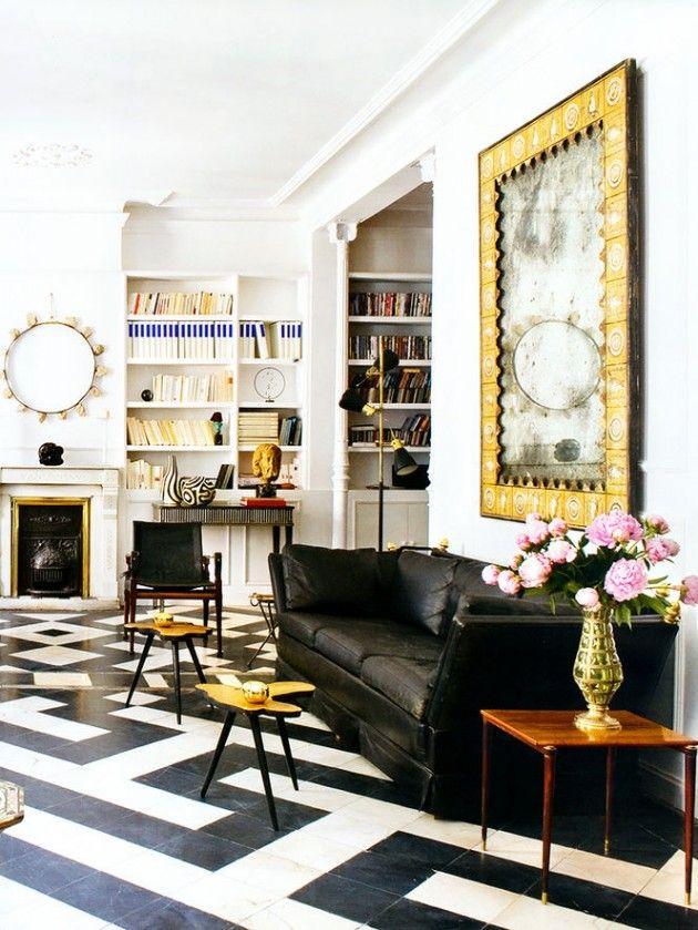 25 Classy And Elegant Black White Floors Interior Interior