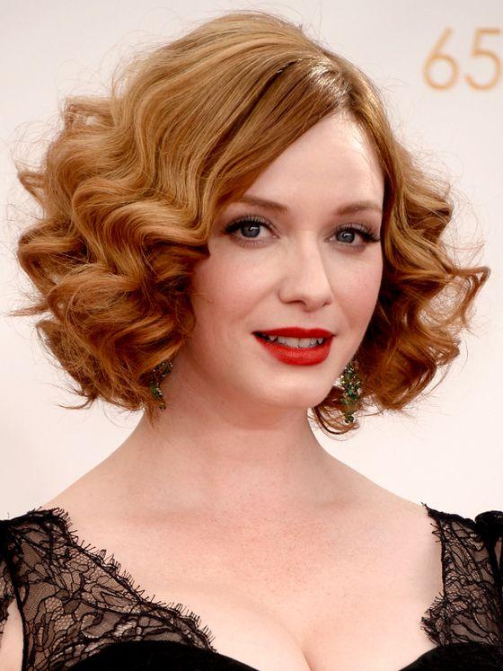 Curly Bob Hairstyles Best Christina Hendricks Curly Bob Hairstyle  Hair  Pinterest  Curly