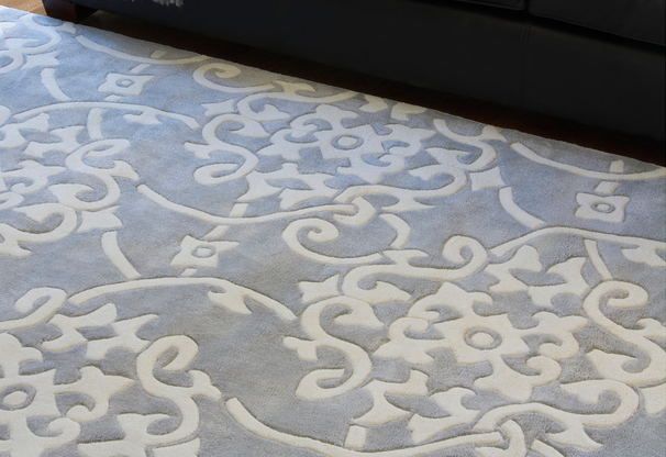 DIY Area Rug. Turn A Duvet Cover, Comforter Cover Or Table Cloth Into An