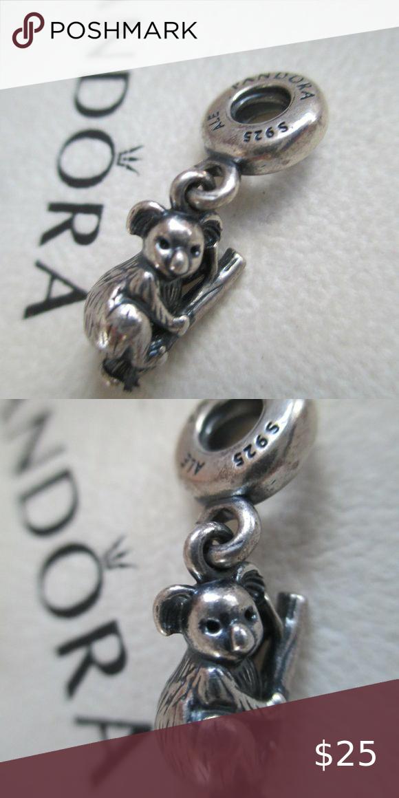 Pandora Retired Koala Bear Dangle Charm   Dangle charms, Dangles ...