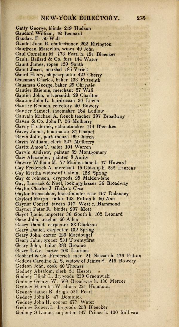 GARTHWAITE David, Printer, 111 Mulberry. 1840 Longworth's