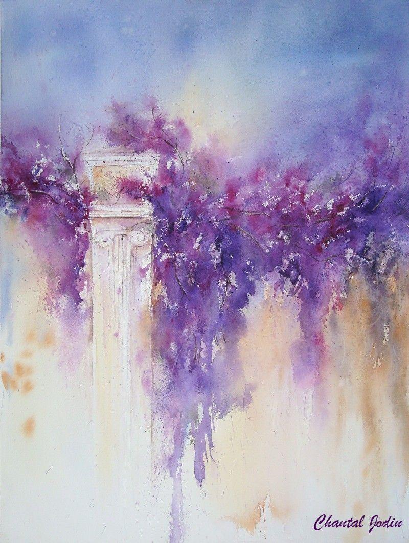 Chantal Jodin Watercolor Aquarelle Florale Art Floral Oeuvre D Art