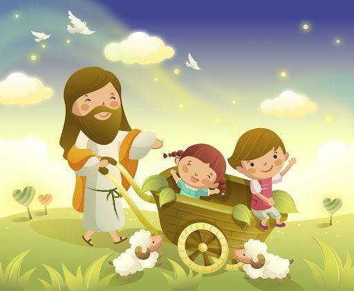Dibujos Cristianos Para Ninos A Color Imagui Jesus Cartoon Bible Cartoon Bible Illustrations