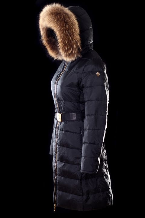 Mackage - KERRY-B LONG BLACK FITTED WINTER DOWN PARKA FOR WOMEN