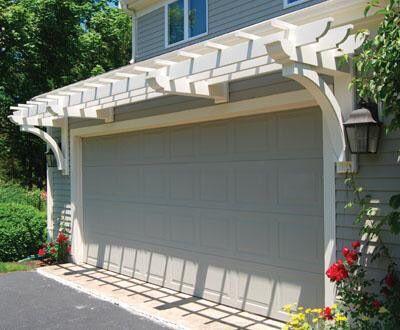 Pergola over garage | Garage trellis, Garage pergola, Door ...