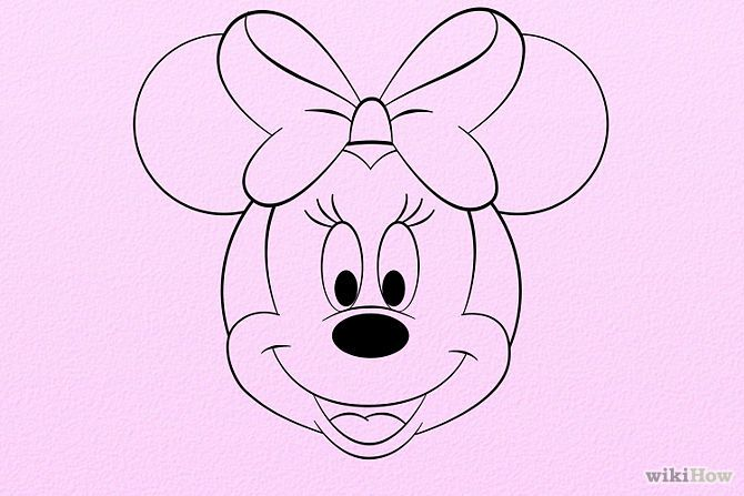 how to draw mickey and minnie mouse step by step