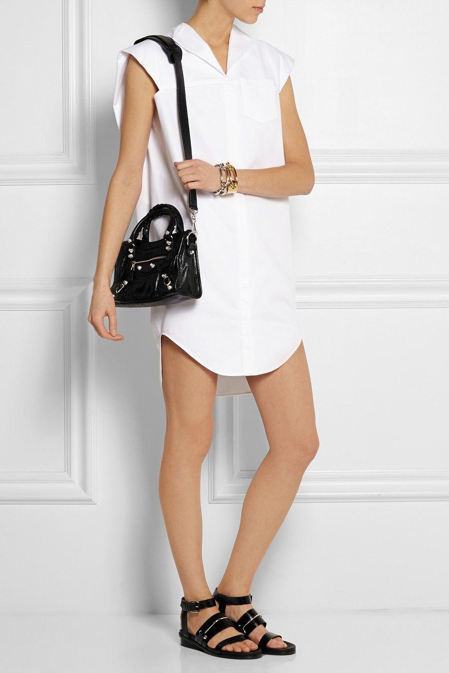 60374fd165c Balenciaga   City mini textured-leather tote   NET-A-PORTER.COM ...