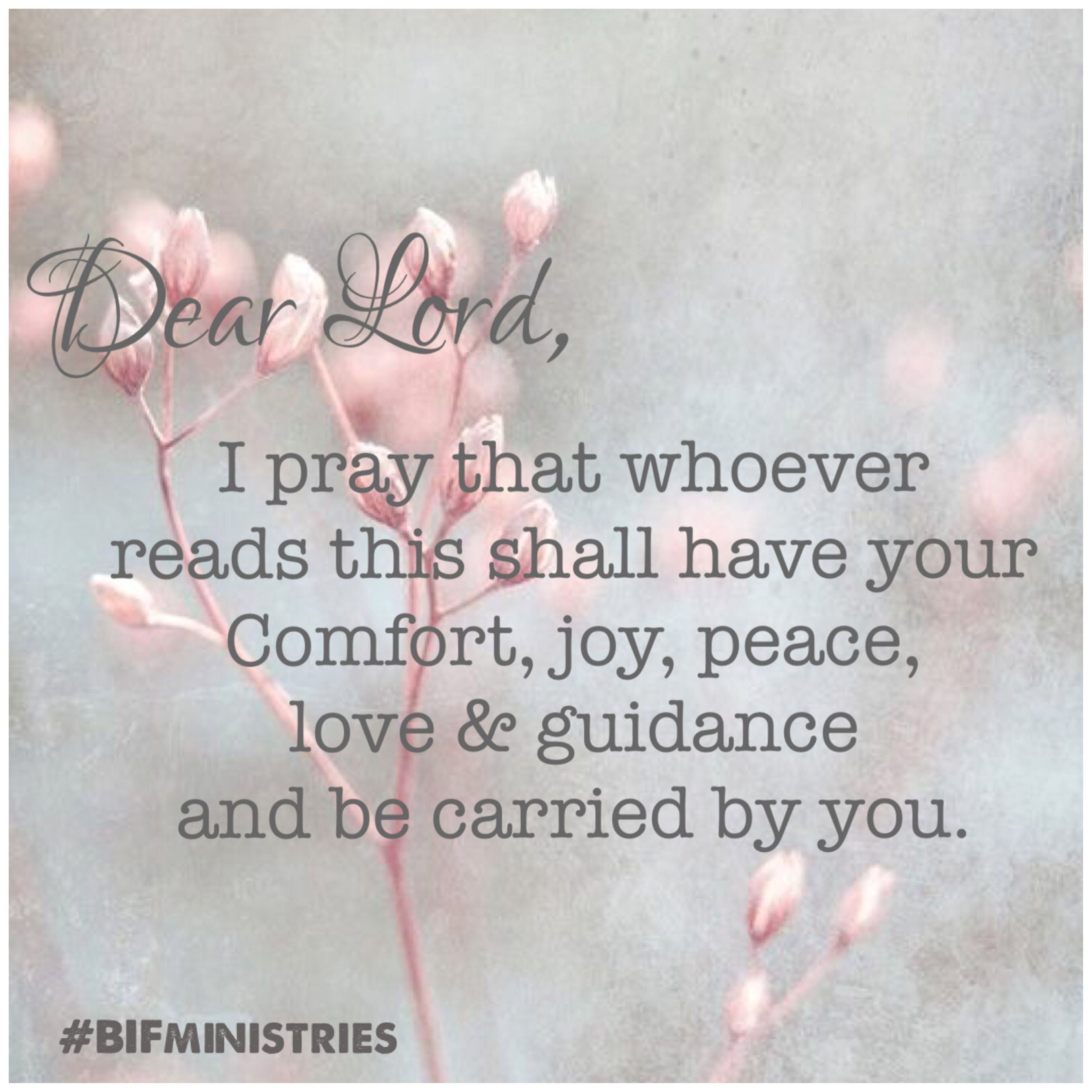 Dear Lord, I prayer whoever reads this shall have your comfort, joy, peace,  love and guidance and be carried by you. Am… | Just pray, I love the lord,  Love the lord