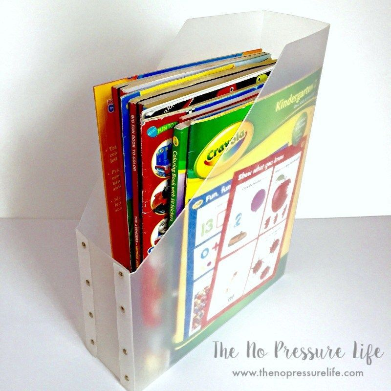 Magazine Holders Make Great Coloring Book Storage For Kids Or Adults You Can Find Them At Coloring Book Storage Diy Toy Storage Dollar Store Diy Organization