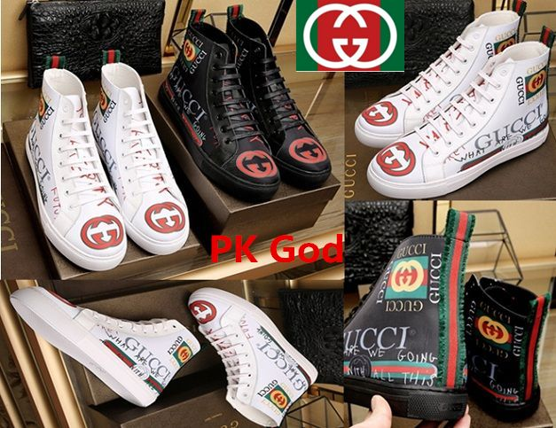 Gucci Casual Men Shoes high top what are we going outlet PK God original  lowest release