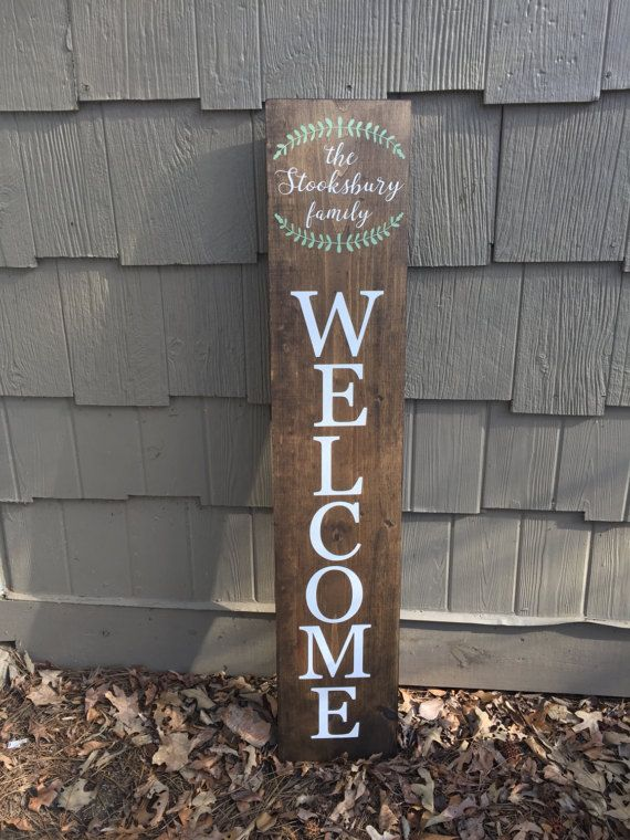 Large Welcome Welcome Sign Personalize Your Sign Welcome Home