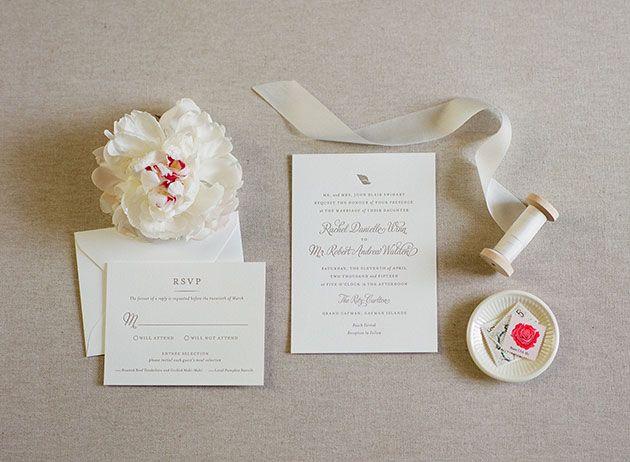 Grand Cayman Wedding At The Ritz Carlton Photos Wedding Weekend Classic Invitation Wedding Invitations
