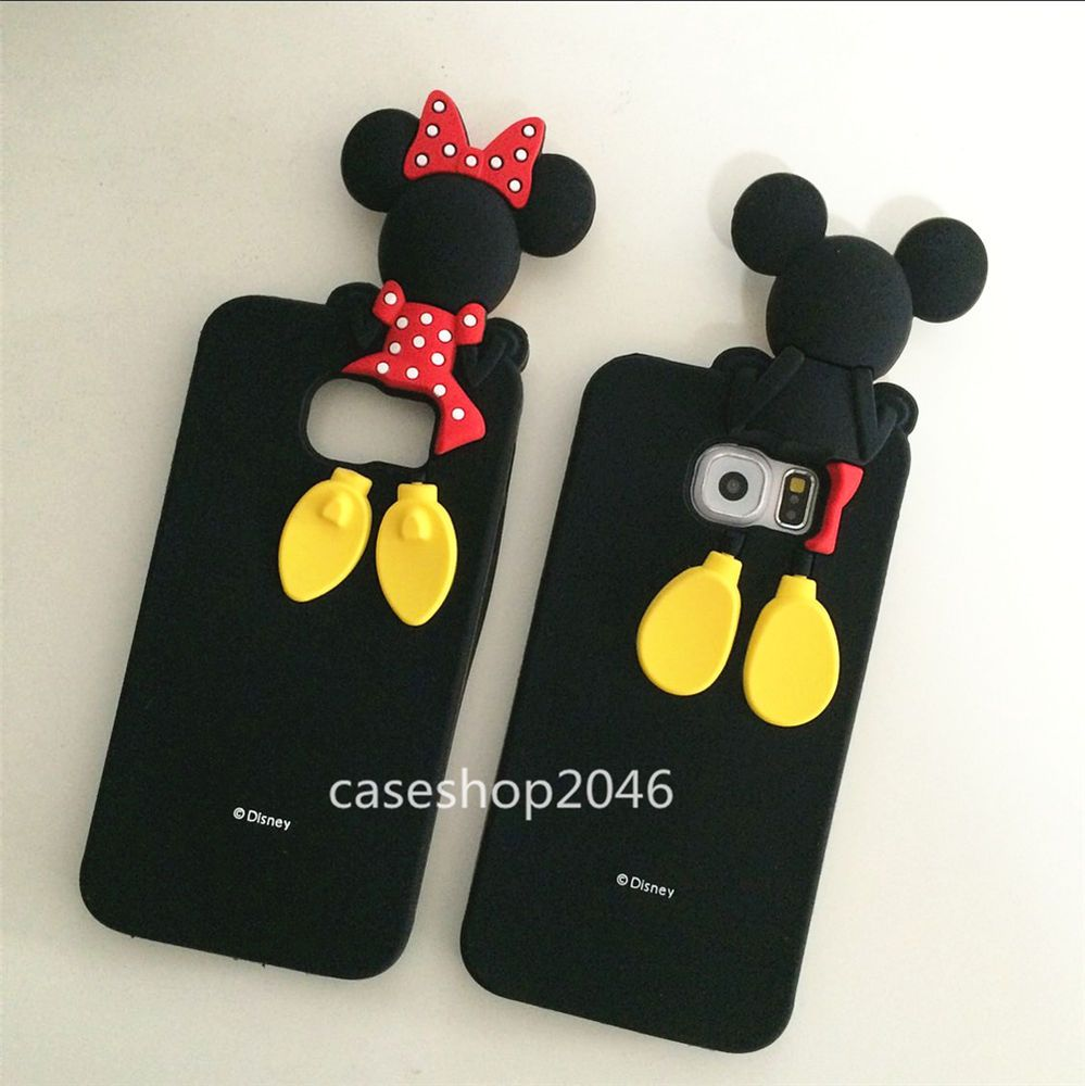 Cute Disney Minnie Mickey Silicone Case Cover For Samsung Galaxy S6 S7 Edge Samsung Cases Samsung Phone Disney Phone Cases